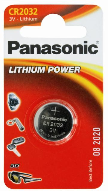Panasonic 3v Coin Lithium Battery Cr2032