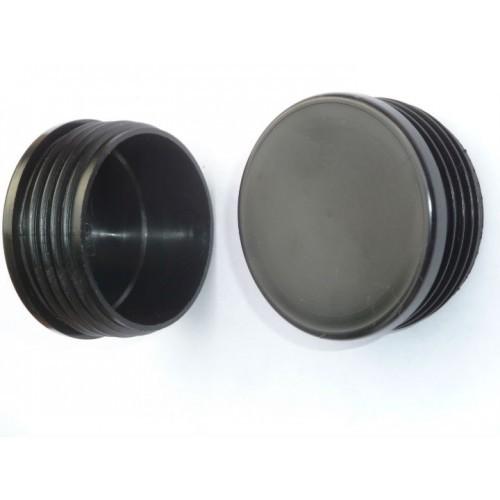 Plastic Caps 25mm Round Black Downee