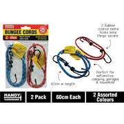 Handy Hardware 2pc Bungee Cord 61cm