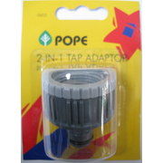 Pope 2 in 1 Tap Adaptor 3/4 & 1""