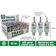 Travel Hand Sanitiser 53ml In Counter Display of 36