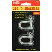 Handy Hardware 2pc D Shackles 6mm