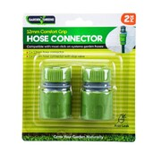 Garden Greens 2pc Hose Connector Suit 12mm Hose
