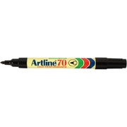 Artline 70 Permanent Marker Black 1.5mm Bullet Nib
