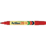 Artline 70 Permanent Marker Red 1.5mm Bullet Nib