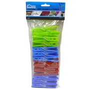 24pk Couloured Clothes Pegs