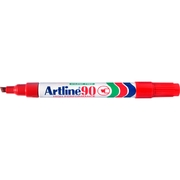 Artline 90 Permanent Marker Red 2-5mm Chisel Nib
