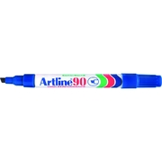 Artline 90 Permanent Marker Blue 2-5mm Chisel Nib