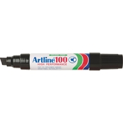 Artline 100 Permanent Marker Black 12mm Chisel Nib