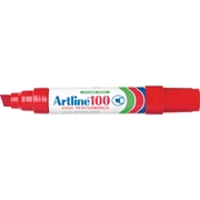 Artline 100 Permanent Marker Red 12mm Chisel Nib