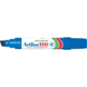 Artline 100 Permanent Marker Blue 12mm Chisel Nib