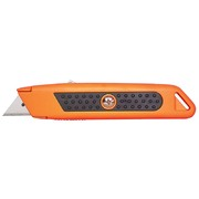 Sterling Auto-Retracting Orange Safety Knife with Rubber Grip