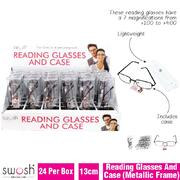 Assorted Reading Glasses & Case