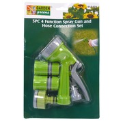Garden Greens 5pce 4 Function Spray Gun & Hose Connection Set