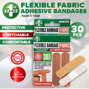 1st Care 30pk Fabric Adhesive Bandages 76mm x 19mm