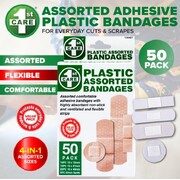 1st Care 50pc Plastic Assorted Bandages