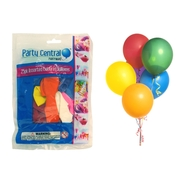 25pk Assorted Colour Balloons