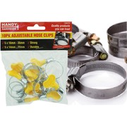 Handy Hardware 10pk Adjustable Hose Clips