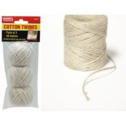 Handy Hardware 3pk Cotton Twine 40m