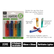 4pk Gas Lighters Transparent