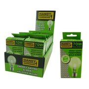 Handy Hardware 70w Traditional Style Light Bulb Energy Saver Screw Type
