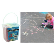 12pc Jumbo Chalk In Plastic Tub
