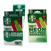 100pk Assorted Sized Neon Adhesive Bandages