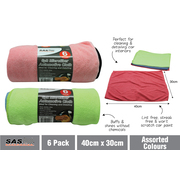 6pk Microfibre Cloth