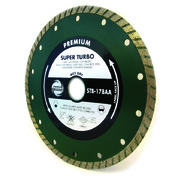 230mm Industrial Quality Diamond Blade Super Turbo Green