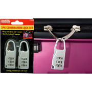 Handy Hardware 2pk Combination Padlock Set