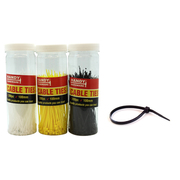 Handy Hardware 200pk 100mm Cables Ties In Canister