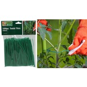 Garden Greens 500pc Twist Ties 100mm