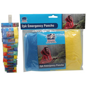 2pk Emergency Poncho (On Clip Strip)