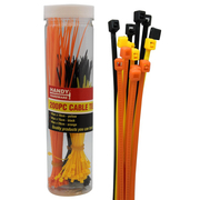Handy Hardware 200pk Cable Ties in Canister Assorted Sizes