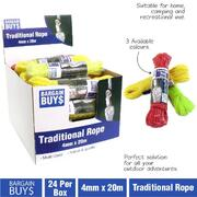 Handy Hardware Traditional Rope 4mm x 20m