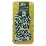 Garden Greens Gardening Kneeler & Glove Set