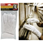 Handy Hardware 6pc White Cotton Gloves