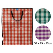 Chequered Shopping Bag 53 x 65 x 29cm
