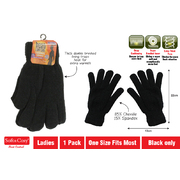 Gloves Chenille Thermal Lined Heat Control Ladies