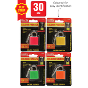 30mm Colour Padlock on Clip Strip