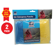 2pk Emergency Poncho on Clip Strip