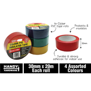 Handy Hardware Coloured PVC Insulation Tape 30mm x 20m