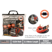 400amp Jumper Leads Cables H/D With Surge Protector 2.5m