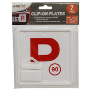 2pk Red NSW P Plate Clip On