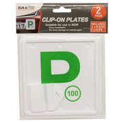 2pk Green NSW P Plate Clip On