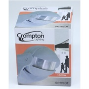 Crompton Lighting Motion Sensor PIR, Adj 180 Deg Detection To 12m, Manual Override, IP44