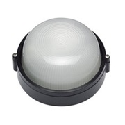 Crompton Lighting 180mm Carlton LED Plain Bunker Light Small Round Black 8W