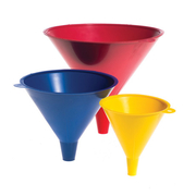Hopkins Heavy Duty Funnels 3 Pack, (4-FC Yellow, 6-FC Blue, 8-FC Red)