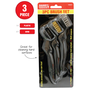 Handy Hardware 3pc Wire Brush Set