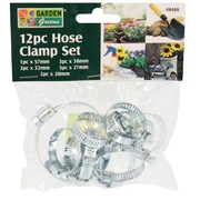 Garden Greens 12pc Hose Clamp Set